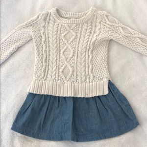 Baby GAP cable sweater dress